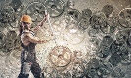 Μηχανικός ατόμων Στοκ φωτογραφία με δικαίωμα ελεύθερης χρήσης