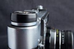 Μηχανικός επάνω πλάγιας όψης καμερών SLR στενός στοκ εικόνες