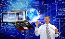 μηχανικός Επικοινωνία Τεχνολογία Διαδικτύου υπολογιστών Στοκ φωτογραφία με δικαίωμα ελεύθερης χρήσης