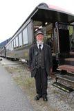 Μηχανικός και το τραίνο του Στοκ Εικόνες