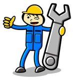μηχανικός κινούμενων σχε&delt ελεύθερη απεικόνιση δικαιώματος