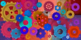 Μηχανικός κόσμος στο περιβάλλον colorist Στοκ εικόνα με δικαίωμα ελεύθερης χρήσης