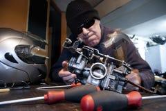 0 μηχανικός με το σφυρί Στοκ Εικόνα