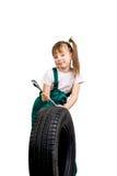 Μηχανικός νέων κοριτσιών Στοκ φωτογραφία με δικαίωμα ελεύθερης χρήσης