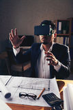 Μηχανικός στα γυαλιά VR Στοκ εικόνες με δικαίωμα ελεύθερης χρήσης