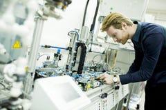 Μηχανικός στο εργοστάσιο Στοκ Φωτογραφίες