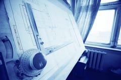 Μηχανικός σχεδίων σχεδιαστών έννοιας Στοκ Φωτογραφίες