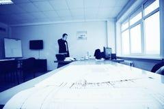 Μηχανικός σχεδίων σχεδιαστών έννοιας Στοκ Εικόνα