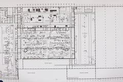 Μηχανικός σχεδίων σχεδιαστών έννοιας Στοκ Εικόνες