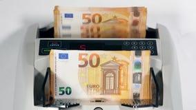 Μηχανικός υπολογισμός των ευρώ από το μηχανισμό απόθεμα βίντεο