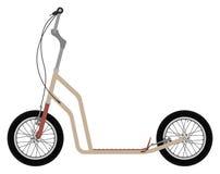 Μηχανικό δίκυκλο ποδηλάτων λακτίσματος ελεύθερη απεικόνιση δικαιώματος