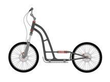 Μηχανικό δίκυκλο ποδηλάτων λακτίσματος απεικόνιση αποθεμάτων