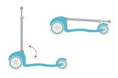 Μηχανικό δίκυκλο ποδηλάτων λακτίσματος διανυσματική απεικόνιση