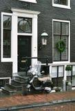 Μηχανικό δίκυκλο στο Άμστερνταμ Στοκ Εικόνα