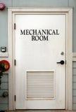 μηχανικό δωμάτιο πορτών Στοκ Φωτογραφία