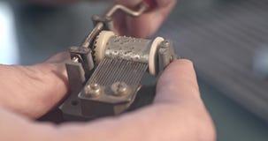 Μηχανικό κιβώτιο μουσικής απόθεμα βίντεο