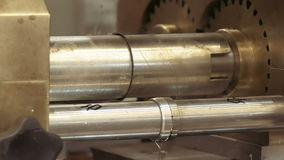 Μηχανικό περιστρεφόμενο cogwheel εξοπλισμού εργαλείων απόθεμα βίντεο