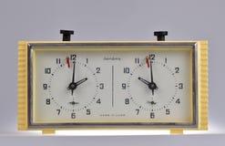 Μηχανικό ρολόι σκακιού στοκ φωτογραφία