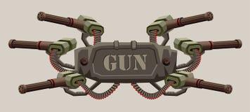 Μηχανικό στρατιωτικό έμβλημα με το διάστημα για το tex απεικόνιση αποθεμάτων