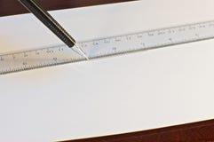 Μηχανικό σχέδιο μολυβιών Στοκ φωτογραφία με δικαίωμα ελεύθερης χρήσης