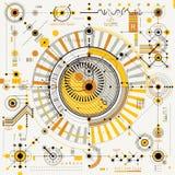 Μηχανικό σχέδιο, διανυσματικό σχέδιο εφαρμοσμένης μηχανικής με τη γεωμετρική ισοτιμία Στοκ Φωτογραφίες