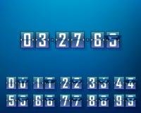Μηχανικό χρονικό χρονόμετρο, σύνολο ψηφίων διανυσματική απεικόνιση