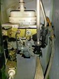 Μηχανισμός κλειδαριών πορτών αυτοκινήτων, ηλεκτρικός-πνευματικός, που καλύπτεται με τη σκόνη στοκ φωτογραφία με δικαίωμα ελεύθερης χρήσης