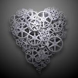 Μηχανισμός συμβόλων καρδιών διανυσματική απεικόνιση