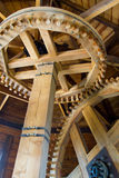Μηχανισμός τεμαχίων με τα ξύλινα εργαλεία Στοκ εικόνες με δικαίωμα ελεύθερης χρήσης