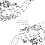 Μηχανολόγος μηχανικός το σχέδιο απεικόνιση τεχνική Στοκ φωτογραφία με δικαίωμα ελεύθερης χρήσης