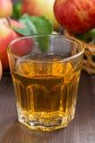 μηλίτης μήλων ή χυμός σε ένα γυαλί, κατακόρυφος, κινηματογράφηση σε πρώτο πλάνο Στοκ φωτογραφίες με δικαίωμα ελεύθερης χρήσης
