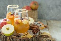 Μηλίτης της Apple με την κανέλα και το γλυκάνισο Στοκ Εικόνες