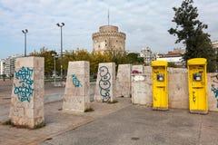 Μη αναγνωρισμένα γκράφιτι καλλιτεχνών - Θεσσαλονίκη - Ελλάδα Στοκ φωτογραφίες με δικαίωμα ελεύθερης χρήσης