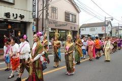 Μη αναγνωρισμένη ένωση ανθρώπων στην παρέλαση για το φεστιβάλ kawagoe, Ja Στοκ φωτογραφία με δικαίωμα ελεύθερης χρήσης