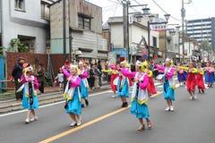 Μη αναγνωρισμένη ένωση ανθρώπων στην παρέλαση για το φεστιβάλ kawagoe, Ja Στοκ φωτογραφίες με δικαίωμα ελεύθερης χρήσης