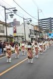 Μη αναγνωρισμένη ένωση ανθρώπων στην παρέλαση για το φεστιβάλ kawagoe, Ja Στοκ Εικόνες