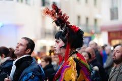 Μη αναγνωρισμένη ημέρα προσώπων επιτέλους Sitges καρναβάλι Στοκ εικόνες με δικαίωμα ελεύθερης χρήσης