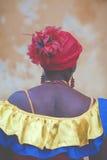 Μη αναγνωρισμένη κολομβιανή γυναίκα στοκ φωτογραφίες
