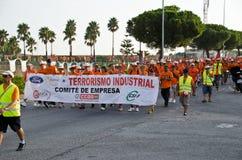 μη αναγνωρισμένοι εργαζόμενοι επίδειξης Στοκ εικόνες με δικαίωμα ελεύθερης χρήσης