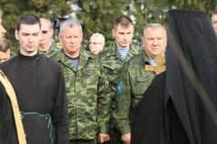 Μη αναγνωρισμένοι στρατιώτες κατά τη διάρκεια των ασκήσεων διοικητηρίων με τη 98η αερομεταφερόμενη μεραρχία φρουρών Στοκ Εικόνες