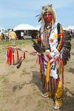 Μη αναγνωρισμένος αμερικανός ιθαγενής στο NYC Pow wow Στοκ Εικόνες