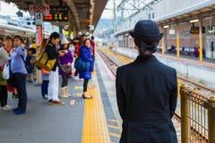 Μη αναγνωρισμένος ιαπωνικός αγωγός τραίνων Στοκ φωτογραφίες με δικαίωμα ελεύθερης χρήσης