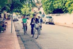 Μη αναγνωρισμένος τουρίστας Luang Prabang Στοκ εικόνες με δικαίωμα ελεύθερης χρήσης