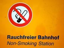 μη καπνίζοντας σταθμός Στοκ Εικόνα