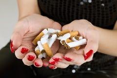 μη καπνίζοντας Στοκ Εικόνες