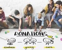 Μη κερδοσκοπική εθελοντική έννοια ερανικού δωρεών φιλανθρωπίας στοκ φωτογραφίες με δικαίωμα ελεύθερης χρήσης