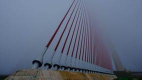 Μια άλλη ομιχλώδης ημέρα στη γέφυρα - μέρος 1 στοκ εικόνα