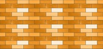 Μια άνευ ραφής σύσταση από τα κίτρινα κεραμικά τούβλα στοκ φωτογραφίες