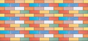 Μια άνευ ραφής σύσταση από τα πολύχρωμα κεραμικά τούβλα στοκ φωτογραφία