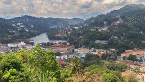 Μια άποψη άνωθεν της πόλης Kandy Σρι Λάνκα Στοκ εικόνες με δικαίωμα ελεύθερης χρήσης
